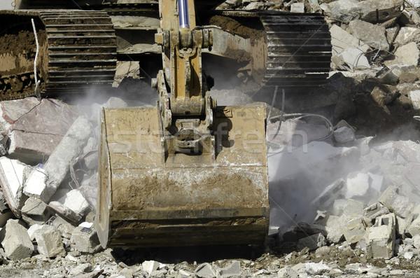 Yıkım ekskavatör çalışmak inşaat çalışma çelik Stok fotoğraf © guffoto