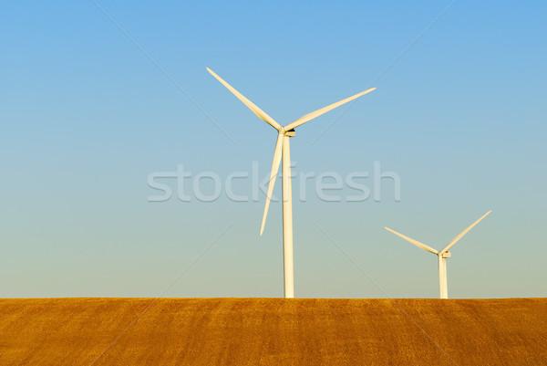 Windturbine landschap groene industriële macht Stockfoto © guffoto