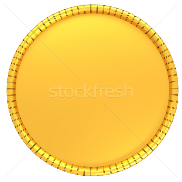 Gouden munt illustratie geïsoleerd witte 3d render metaal Stockfoto © Guru3D