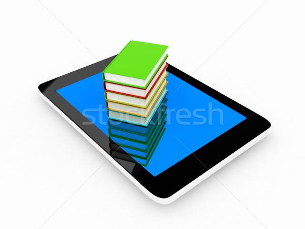 Renkli gerçek kitaplar beyaz kitap Stok fotoğraf © Guru3D