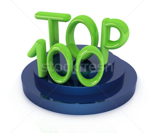 Top honderd icon witte 3D gerenderd Stockfoto © Guru3D