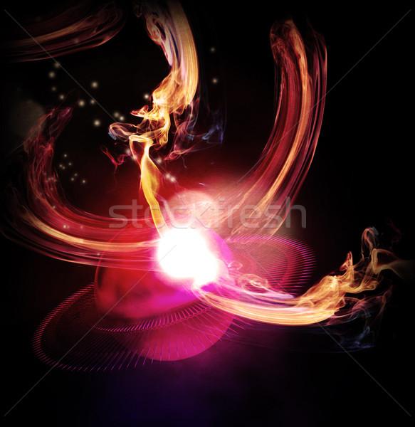 Résumé lumières fond balle rouge Photo stock © Guru3D