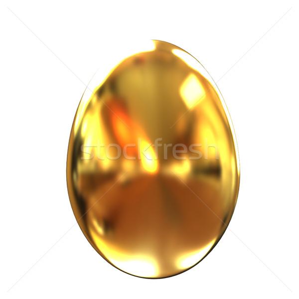 Groot gouden easter egg witte Pasen achtergrond Stockfoto © Guru3D