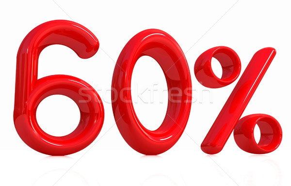 3d red '60' - sixty percent Stock photo © Guru3D