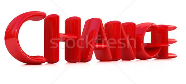 3D Rood tekst verandering witte ontwerp Stockfoto © Guru3D