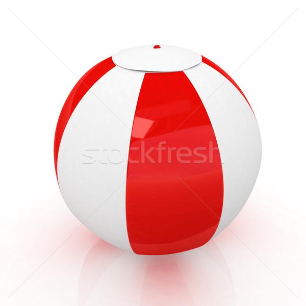 ストックフォト: カラフル · 水生の · ボール · 白 · 子 · 海
