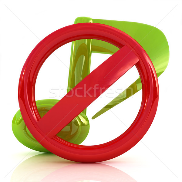 Stock photo: Prohibition of noise and music