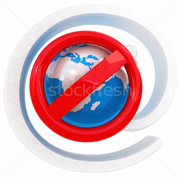 Globale e-mail bescherming verbod spam witte Stockfoto © Guru3D