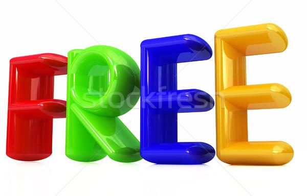 Kleurrijk 3d tekst gratis witte internet achtergrond Stockfoto © Guru3D