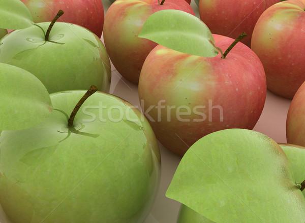 Elma beyaz gıda doğa yaprak meyve Stok fotoğraf © Guru3D