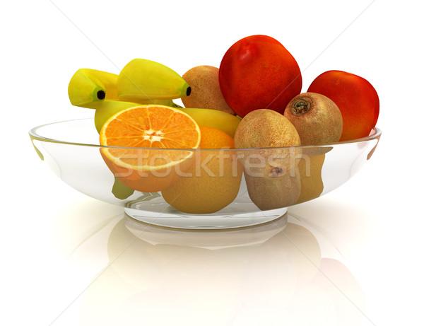 Citrus plaat witte appel blad vruchten Stockfoto © Guru3D