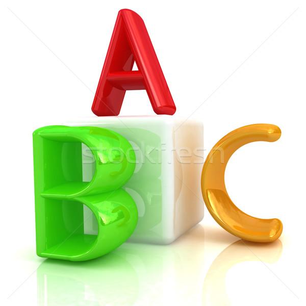 Alfabet blokken witte achtergrond groep schrijven Stockfoto © Guru3D
