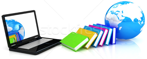 Online onderwijs witte business boek technologie Stockfoto © Guru3D
