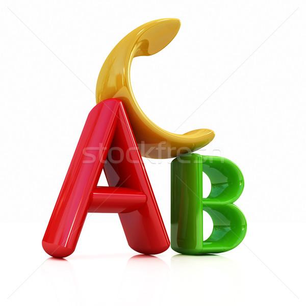 Kleurrijk brief grafische mooie object tekst Stockfoto © Guru3D