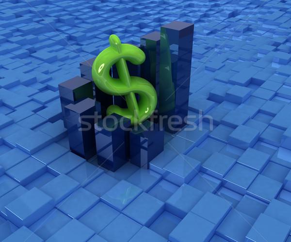 Valuta dollar zakelijke grafiek stedelijke abstract achtergrond Stockfoto © Guru3D
