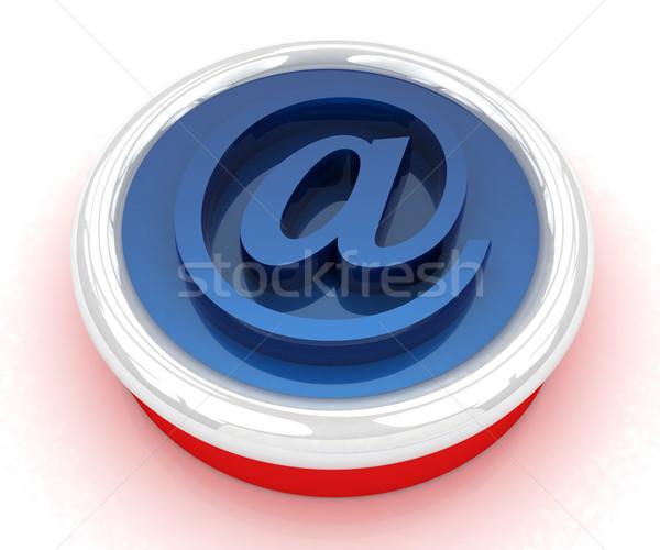 Knop e-mail internet witte business Stockfoto © Guru3D