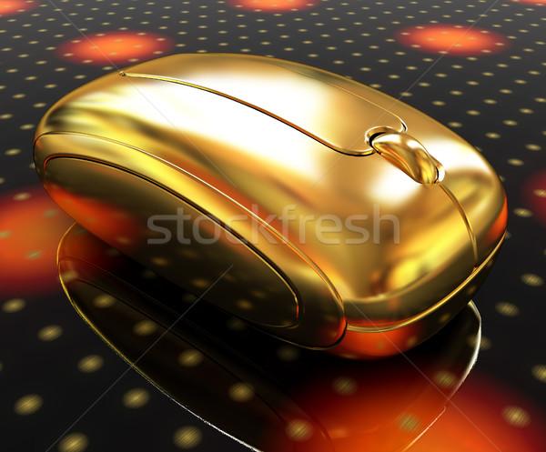 Altın fare fantastik karanlık 3D Stok fotoğraf © Guru3D
