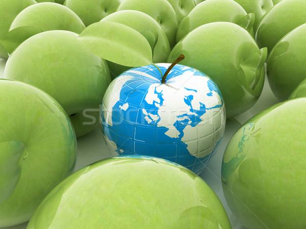 Stock foto: Apfel · Erde · Äpfel · weiß · Business · Essen