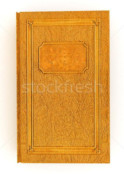 Leder boek witte school onderwijs wetenschap Stockfoto © Guru3D