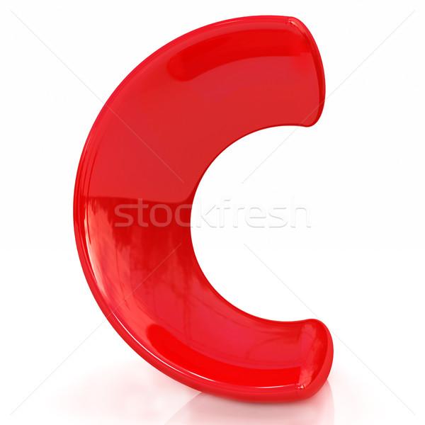 Alfabet witte letter c ontwerp onderwijs teken Stockfoto © Guru3D