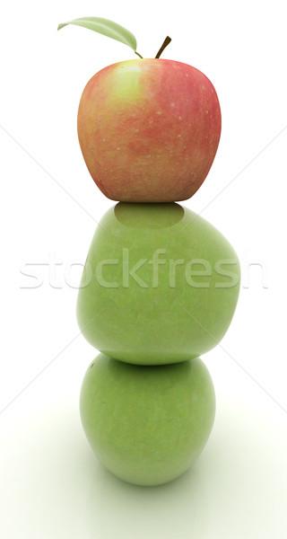 Spa stilleven appels witte voedsel gras Stockfoto © Guru3D