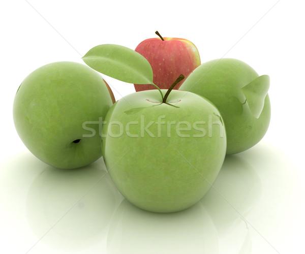 Appels witte voedsel natuur blad vruchten Stockfoto © Guru3D