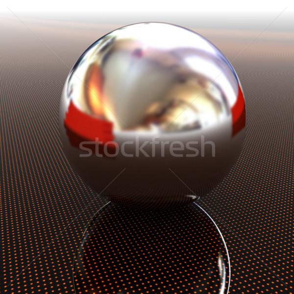 Chrome balle lumière chemin infini rendu 3d Photo stock © Guru3D