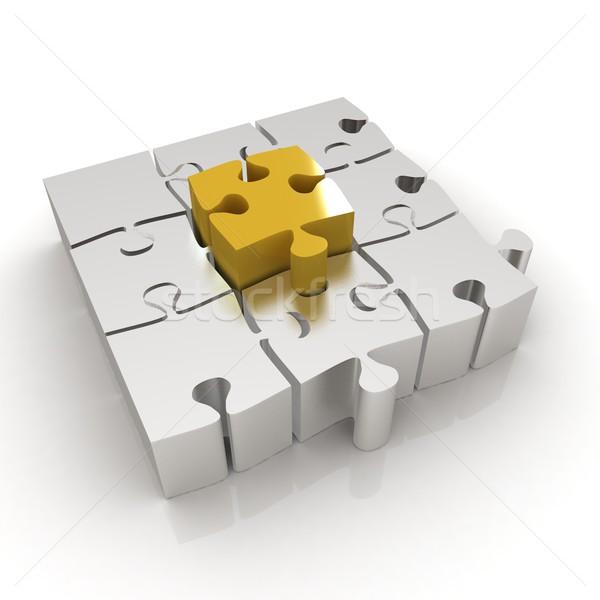 Jouet puzzle blanche solitaire jeu Photo stock © Guru3D
