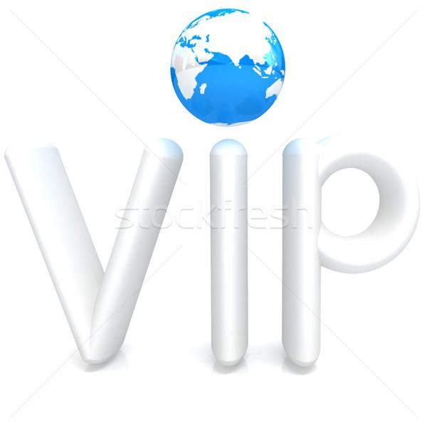 Parola vip 3D mondo bianco internet Foto d'archivio © Guru3D