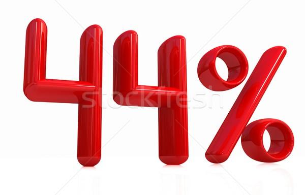 3D красный сорок четыре процент белый Сток-фото © Guru3D