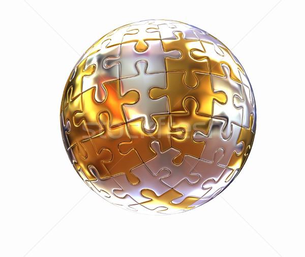 Puzzle abstract sphere  Stock photo © Guru3D