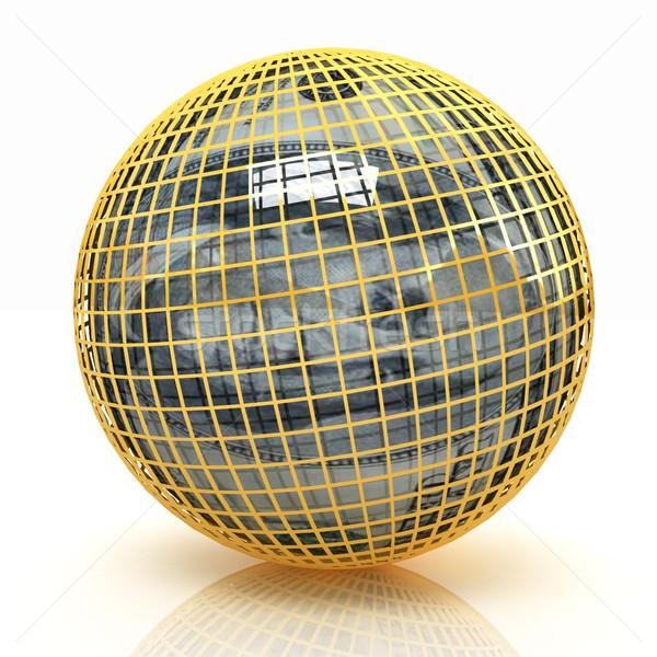 Bol dollar witte wereldbol financieren markt Stockfoto © Guru3D