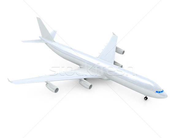 Witte vliegtuig technologie machine vliegen motor Stockfoto © Guru3D