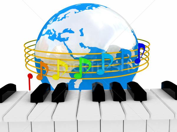 グローバル 音楽 孤立した 白 世界中 地図 ストックフォト © Guru3D