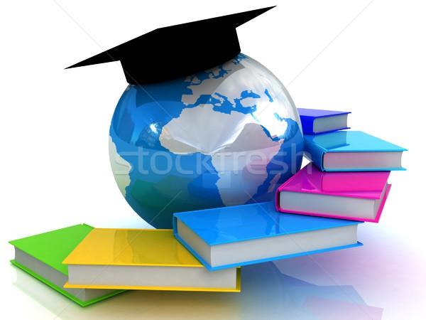 Global eğitim kitap dünya öğrenci dünya Stok fotoğraf © Guru3D