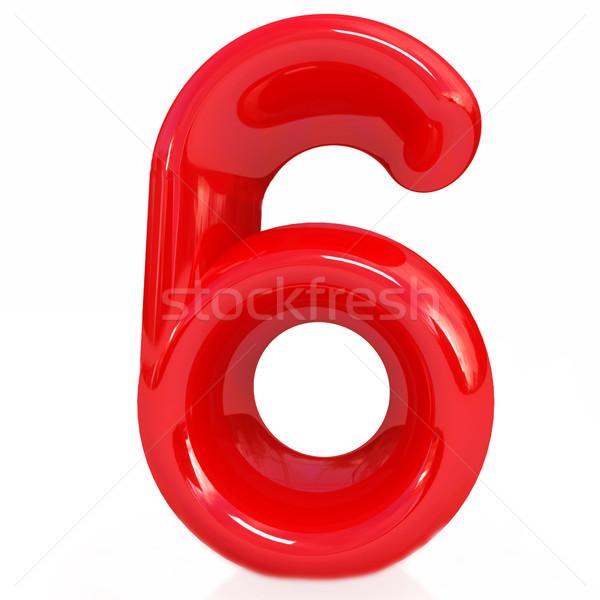 Aantal zes witte onderwijs teken gegevens Stockfoto © Guru3D