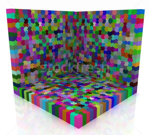 Bilmece model soyut arka plan destek oyun Stok fotoğraf © Guru3D