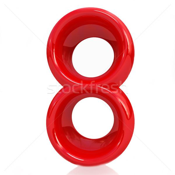 Number '8'- eight Stock photo © Guru3D
