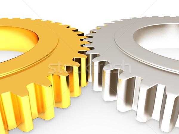 ギア セット 白 技術 にログイン 業界 ストックフォト © Guru3D