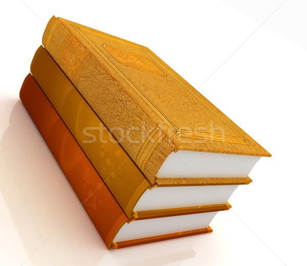 Boglya könyvek fehér könyv iskola oktatás Stock fotó © Guru3D