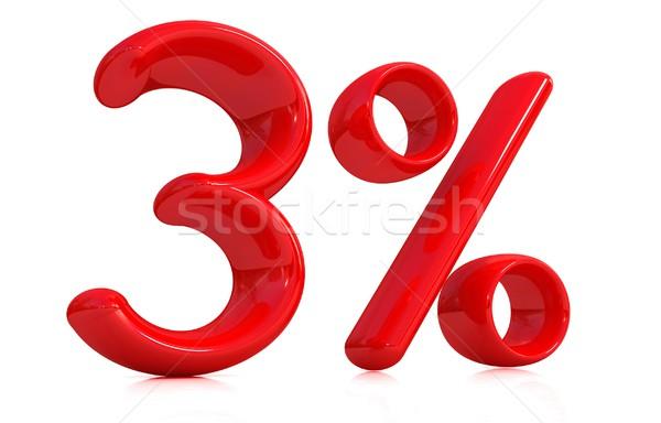 3D rojo tres por ciento blanco ordenador Foto stock © Guru3D