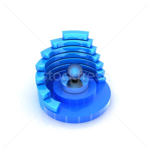 Abstract structuur Blauw centrum witte gebouw Stockfoto © Guru3D