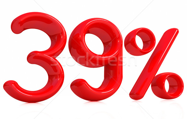 3D rouge trente neuf pour cent blanche Photo stock © Guru3D