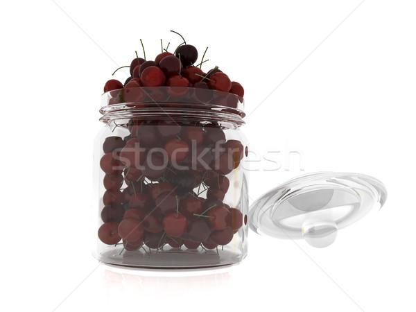 Bank vers kersen witte blad vruchten Stockfoto © Guru3D
