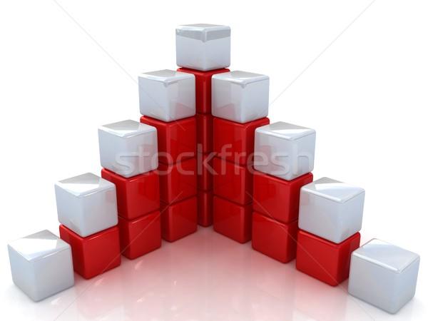 Diagram structuur business technologie groep speelgoed Stockfoto © Guru3D