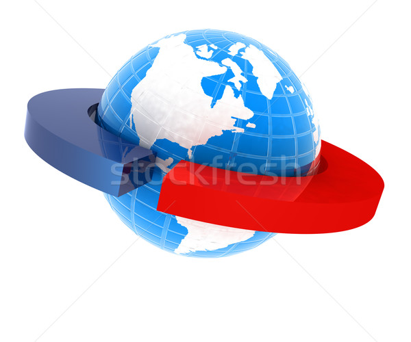 земле два изолированный белый мира карта Сток-фото © Guru3D