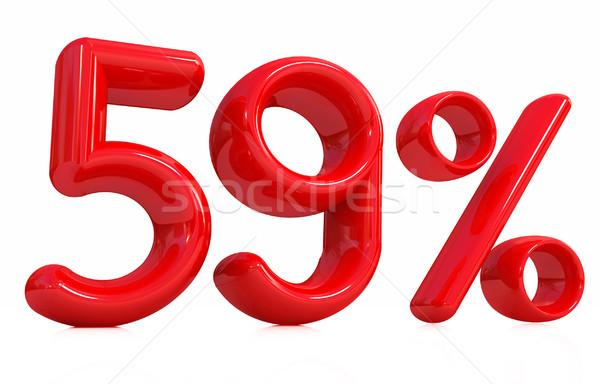 3D красный пятьдесят девять процент белый Сток-фото © Guru3D