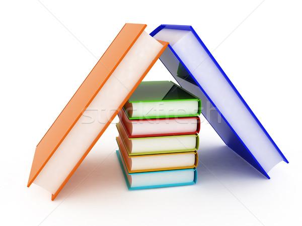 Kleurrijk echt boeken witte papier school Stockfoto © Guru3D
