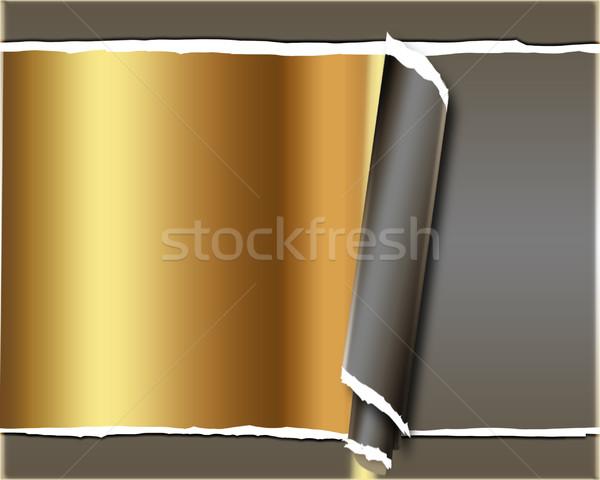 Gescheurd papier papier abstract achtergrond frame web Stockfoto © Guru3D
