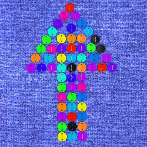 colorful real button arrow Stock photo © Guru3D